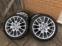 BMW M sport alloy wheels plus tyres £375 ono