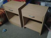 Matching Bed Side Tables Pair.