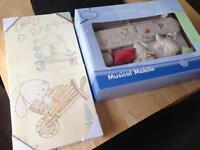 Mamas and papas canvas set and disney musical mobile (all new)