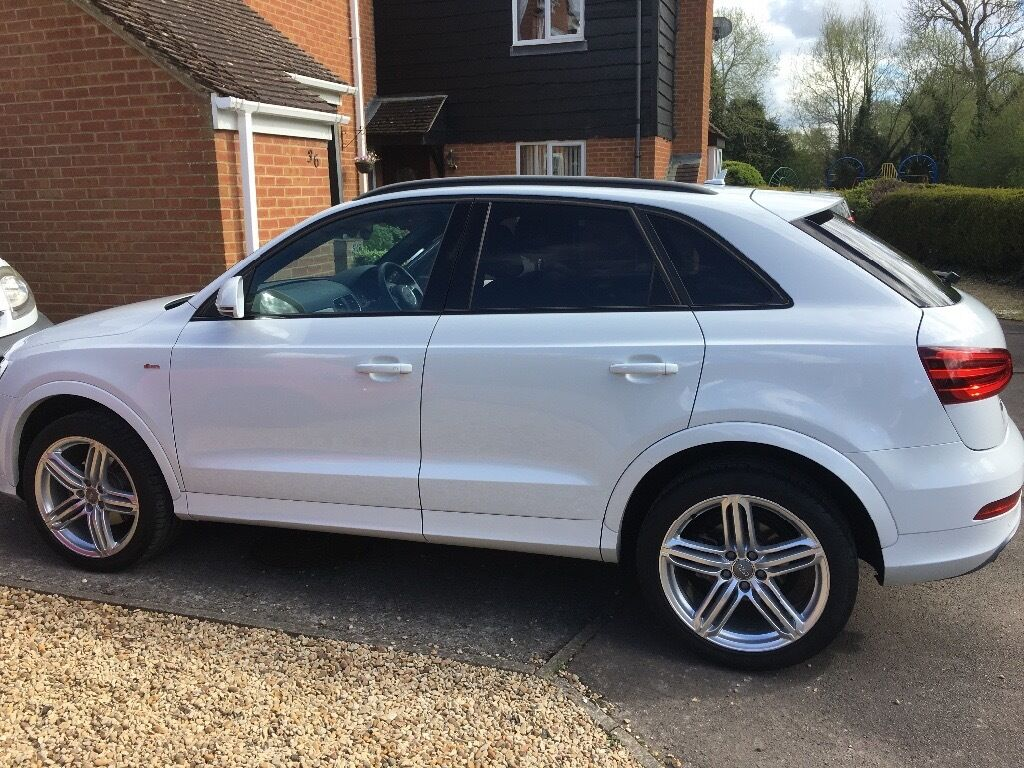 audi q3 tdi 2 0 white s line for sale in oxford. Black Bedroom Furniture Sets. Home Design Ideas
