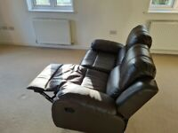 Recliner leather sofa 3 seater +2 seater + foostool for sale