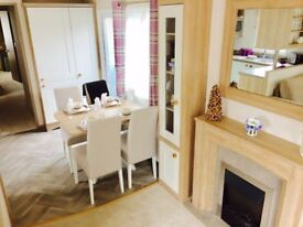 Brand new 3 bedroom static caravan sited on a 12 month pet friendly holiday park Devon