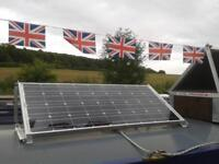 Solar Afloat custom canal boat kit 5 year warranty given British made panels