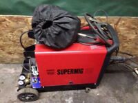 Sealey 185 supermig power welder nearly new condition includes mask gloves wire and sealey sander