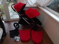 Baby jogger city select double/single pushchair