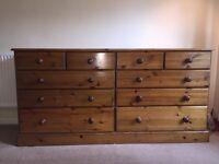 Pine Chest of Drawers (10 drawer)