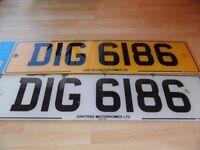 Private Number Plate - DIG 6186