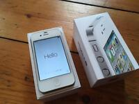 iPhone 4S 32gb on EE. No Sim. Boxed with EarPods.