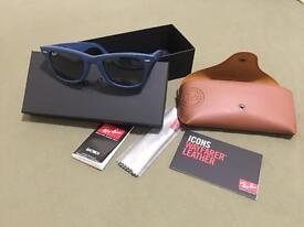 Blue Ray Ban WAYFARER leather
