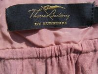 burberry ( Thomas by Burberry) top in salmon pink, small and suede brown flared trousers