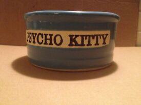 Psycho Kitty cat bowl