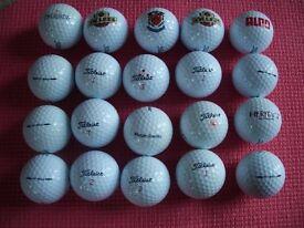 20 TITLEIST DT SOLO GOLF BALLS
