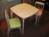 JOHN CRANE JUNIOR TABLE AND CHAIRS CHILDREN KIDS PLAY DINING