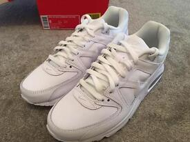 Nike air Max Command leather white trainers