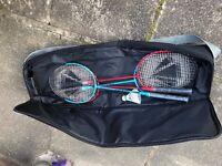 Badminton Racket, shuttle & bag