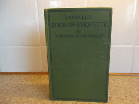 CASSELL'S BOOK OF ETIQUETTE BY 'A WOMAN OF THE WORLD' -RARE - 1920.s