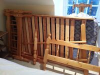 Bunk-beds/single beds Pine with mattress FREE on collection