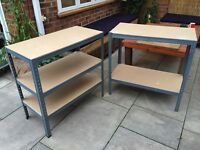 BARGAIN! WORKBENCH X 2 OR SHELVING UNIT GOING CHEAP