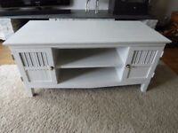 Hand Painted Restored Coffee Table/Media Unit, Painted in Annie Sloan Old White