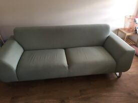 dfs Hardy: 3 Seater blue Sofa
