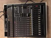 Yamaha PA system - EMX 500 Amplifier Mixer, Yamaha S15e, 2 Speakers, Stands, Case, Cables, Bag