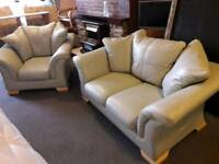 Lovely good quality modern mint green two seater sofa and chair space needed bargain £65