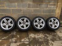 Audi S line 17inch genuine alloys (will fit Vw/seat/woods)