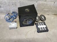 700W Car Subwoofer, Amp, Speakers and Head Unit