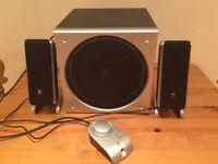 Logitech Z3 Multimedia 2.1 PC Speakers Satellite Subwoofer Bass Control Pod EX