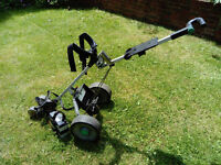 Electric Golf Trolley - Compact Hill Billy including batteries. Winter wheels also available