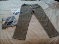 2x BRAND NEW PAIRS OF Cotton TRADERS action, combat trousers 38 W . 31L, COLOUR : cork, desert