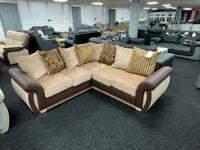 Corner Sofa Cream Fabric 214cm x 214cm
