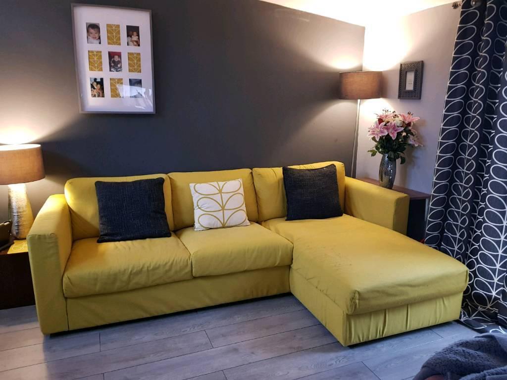 Sold Ikea Vimle 3 Seater Corner Sofa With