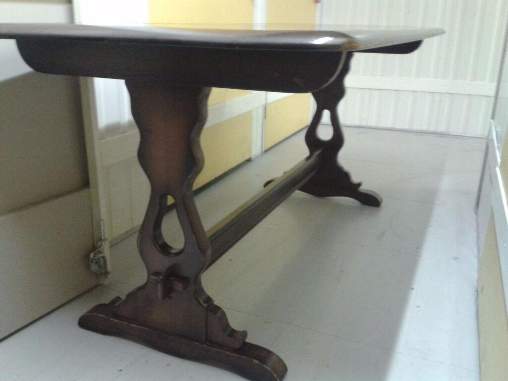 Rectangular dining table, solid oak, length 185cm,width 80cm,carved leg
