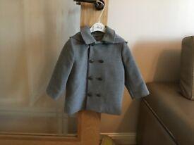 Tutto Piccolo Boys Grey Coat - 24 months