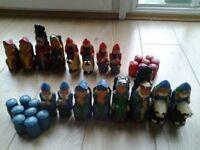 Isle of Lewis chessmen ,large full set