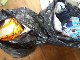 4 bin bags boys clothes