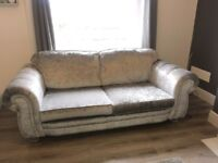 Marilyn Grey Crushed Velvet Sofa