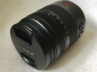 PANASONIC LUMIX G VARIO 14-140 HD MEGA O.I.S LENS AND FILTER IN EXCELLENT CONDITION