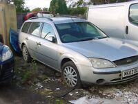 FORD MONDEO ESTATE 2003 FOR SPARE OR REPAIR