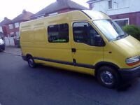 Ideal camper project or work horse renault master lwb hitop 12 month mot bargain £1995