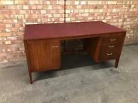 Vintage Pedestal Desk 'Remploy' Mid Century 1960s Retro