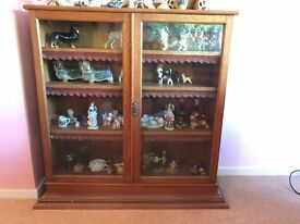 Antique Oak Display Case