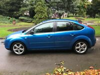 2007 57 FORD FOCUS ZETEC CLIMATE , SONIC BLUE , 5 DOOR HATCHBACK, CHEAP CAR WITH MOT , PX/ SWAP