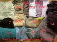 Fabric -Various, see below for prices