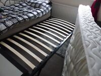 Single Black Underbed Trundle and Mattress