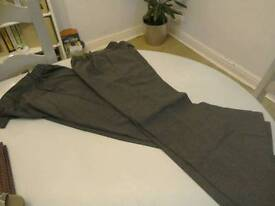 M&S girls grey school trousers x2, age 9-10