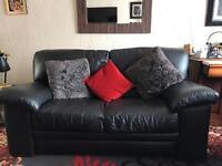 Arighi bianchi two seater sofa full grain leather black