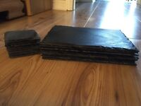 **QUICK SALE** Set of 8 slate placemats & coasters