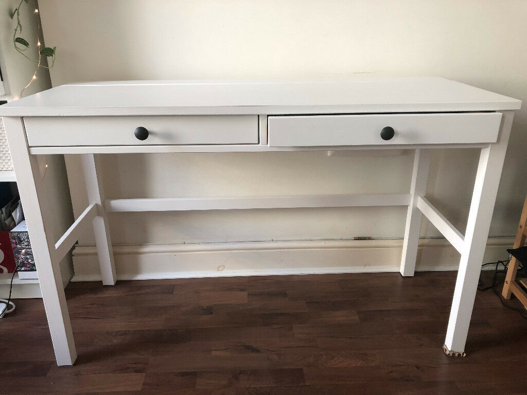 Ikea hemnes desk with drawers white in hampstead london